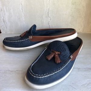 Sperry top sider Mules slip on navy 10